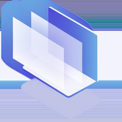 Purple and blue file folders